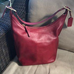 Red coach hobo bag